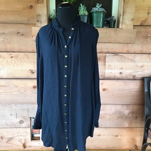 Free People Long Sleeve Button Down